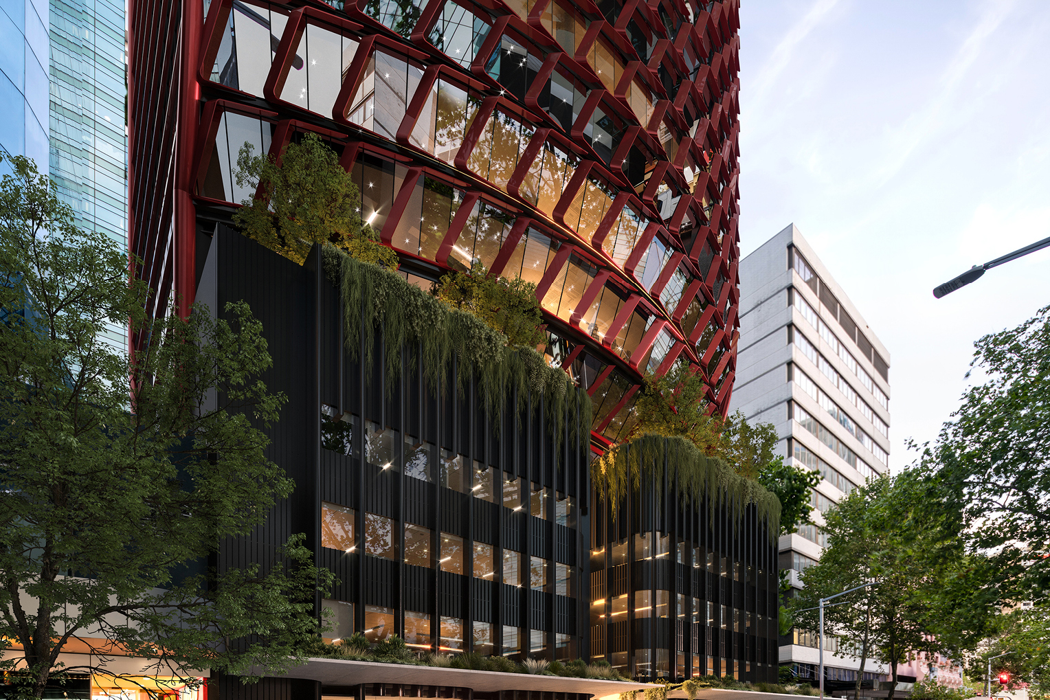 North Sydney tower inspired by the waratah
